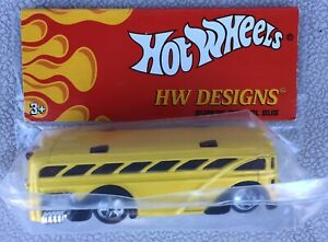 Hot Wheels HW Designs Surfin' School Bus - New In Sealed Bag.