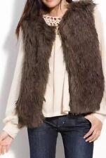 Sanctuary Faux Long Hair Fur Natalie Top Vest Ski Resort Sexy Boho Caftan $148 L