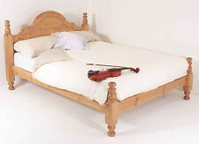 4ft6 Double Bed STRONG Frame Solid Pine Wood HIDDEN FITTINGS Classic LF