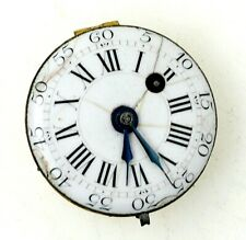 1780's Verge Fusee Pocket Watch Movement VERY SMALL SIZE 25mm RUNS