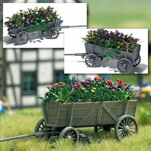 Plants And Flowers On Cart H0 Scale 1:87 Diorama Model 1228 Busch