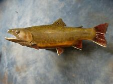 """Brand new 19"""" Brook Trout Whole Reproduction Taxidermy Fish Mount Fishing Decor"""