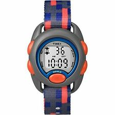 Kids Timex Blue Indiglo Sport Digital Black Nylon Fabric Band Watch TW7B99600