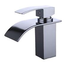 HnFshop Chrome Regular Waterfall Spout Single Handle Bathroom Sink Vessel Faucet