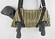 SM/M BREED: XXL - XXXL BROWN & BEIGE  STRIPED NAIL GROOMING BELLY  SLING CARRIER