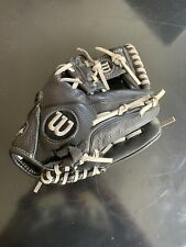 Black And Gray Wilson A500 Kids Baseball Glove 10.5 inches