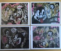 8.5x11 Set #1 Signed prints By Frank Forte Pop Surrealism Cartoon Dark Art