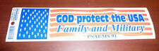 Lot of 100 Patriotic God Protect Usa Bumper Stickers