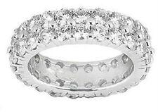 Row Eternity Wedding Band in Platinum 4.00 ct. Tw Round Cut Diamond Double