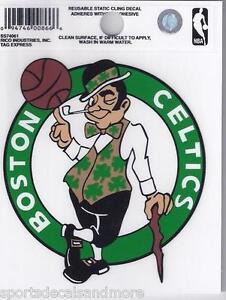 """Boston Celtics 3"""" x 4"""" Small Static Cling - Truck Car Window Decal NEW NBA"""