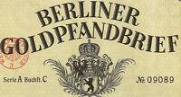 Berliner Pfandbrief-Amt Berlin verschiedene Gold Pf. 1924 bis 1935 Bank Anleihe
