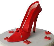 Edible Red High Heels  Shoe  Set Handmade Sugarpaste Cake Topper Decoration