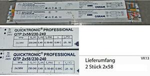 OSRAM Quicktronic Professional 2x QTP 2x58 Vorschaltgerät  gebraucht