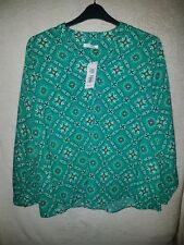 Ladies Size 20 Green Blouse Shirt Top Marks And Spencer New With Tags Was £22.50