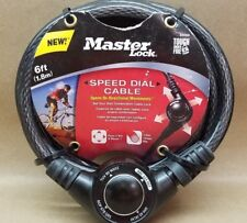 Brand New Master Lock 6' Speed Dial Cable Lock New
