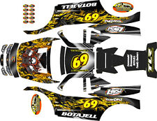 LOSI 5T MTXL X FACTOR SKULL WITH FLAMES THEME  body wrap decals stickers