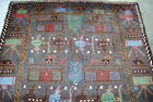 Afghan War Hand Made Rug showing Tanks,weapons,the memory of soviet union war