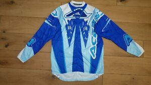 ACERBIS Adult Blue/White Motocross Enduro Jersey Shirt size L