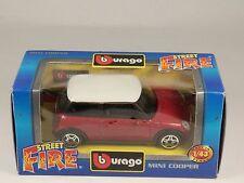 [PI3-25] BBURAGO BURAGO 1/43 STREET FIRE MINI COOPER ROSSO RED NIB