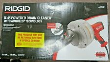 Ridgid 35473 Hand Held Powered Drain Cleaner With Auto Feed K 45af New Ships Free