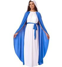 Virgin Mary Costume Fancy Dress Cosplay Christmas Party Outfit Holy Saint Mother