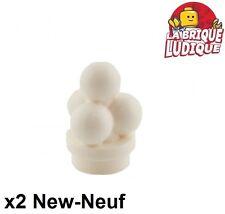 Lego - 2x ice cream scoops boule glace blanc/white 6254 NEUF