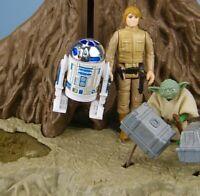 2x Star Wars Cylindre Levitation R2-D2 Dagobah Playset Vintage 1980