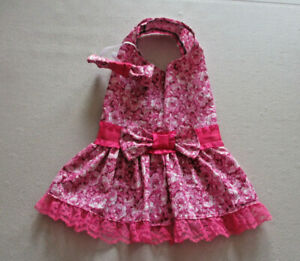 M Dog dress [roses] cotton handmade