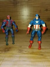 "Marvel Legends Captain America Face Off 2 Pack 6"" Red Skull Captain America EUC"