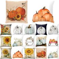 Halloween Happy Pillow Cases Fall Sofa Pumpkin Throw Cushion Cover Home Decor