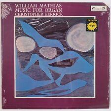 MATHIAS: Music for Organ L'oiseau-Lyre SOL 342 UK Vinyl LP NM- Herrick
