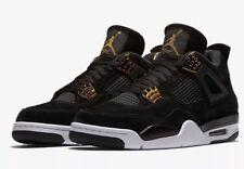 NEW Nike Air Jordan Retro 4 Royalty Black Metallic Gold GS 408452-032 Size 6.5Y