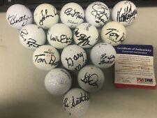 LOT (15) Signed Non - Golfers Golf Balls w/ Dreeson Connors + More PSA/DNA COA