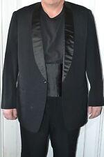 Japan Vtg Mens Black Suit Blazer Jacket Tuxedo Pant Trouser Art Taylor Tokyo 40