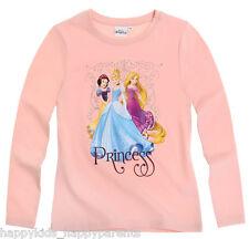 Girls Disney Frozen Princess Sofia The First Long Sleeve Character Top T- Shirt Three Princesses - Light Pink 2 Years