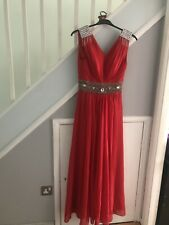 Red Dress Formal Wedding Cocktail Evening Prom Ball Gown Party Bridesmaid