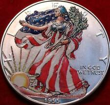 Uncirculated 1999 Colorized  American Eagle Silver Dollar