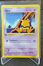 1999 Abra 43/102 Base Set 1st Edition Shadowless Common Card WOTC