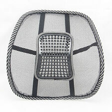 New Black Mesh Lumbar Back Brace Support Office Home Car Seat Chair Cushion Cool