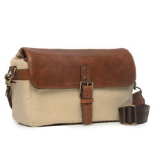 ONA The 50/50 Bowery Leather/Canvas (Natural Canvas & Cognac Leather) Camera Bag