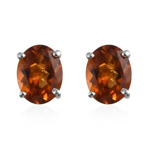 Natural Madeira Citrine Earrings in Platinum Over Sterling Silver 3.40 ctw