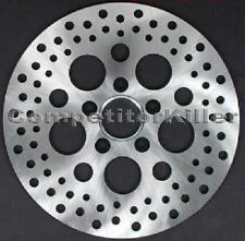 "Standard Stainless Steel 11.5"" Rear Harley Brake Rotor Satin Finish Drilled"