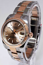 Rolex Datejust 31 18k Rose Gold & Steel Watch Box/Papers NEW 178271