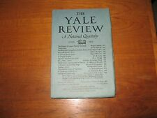 1923 Yale Review, Mario Puccini, W.L. Bragg, Henry James, Herrick, Lawrence