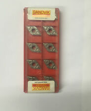 10 SANDVIK PLAQUETTES CARBURE DE TOURNAGE NEUVES DNMX110404-WF 5015
