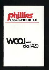 Philadelphia Phillies--1982 Pocket Schedule--WCOJ