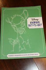 Disney Animals Dot - to - Dot Adult Book New