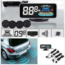 12V Black 8 Parking Sensors Kit Vehicle Reverse Backup Radar System LCD Display