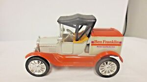 Older Ertl Ben Franklin Metal Advertising Bank-Replica 1918 Ford Model T Runabou