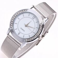 Fashion Women Crystal Stainless Steel Analog Quartz Wrist Watch Bracelet Luxury